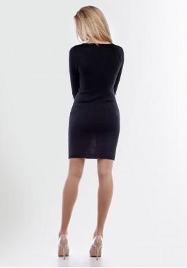 Вязаное маленькое чёрное платье 2064