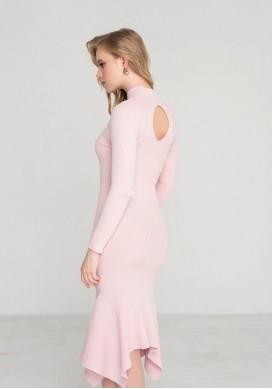 ПЛАТЬЕ С КВАДРАТНЫМ НИЗОМ ТРИКОТАЖНОЕ 2305 розовый